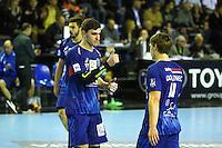 Ludovic Fabregas / Jure Dolenec - 05.03.2015 - Montpellier / Cesson Rennes - 17eme journee de Division 1<br />Photo : Andre Delon / Icon Sport