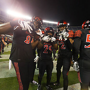 26 November 2016: The San Diego State Aztecs football team closes out the season at home against Colorado State.  The Aztecs lost to the Rams 63-31 and will travel to Wyoming to play for the conference championship next week . www.sdsuaztecphotos.com