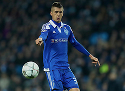 MANCHESTER, ENGLAND - Tuesday, March 15, 2016: FC Dynamo Kyiv's Yevhen Khacheridi in action against Manchester City during the UEFA Champions League Round of 16 2nd Leg match at the City of Manchester Stadium. (Pic by David Rawcliffe/Propaganda)