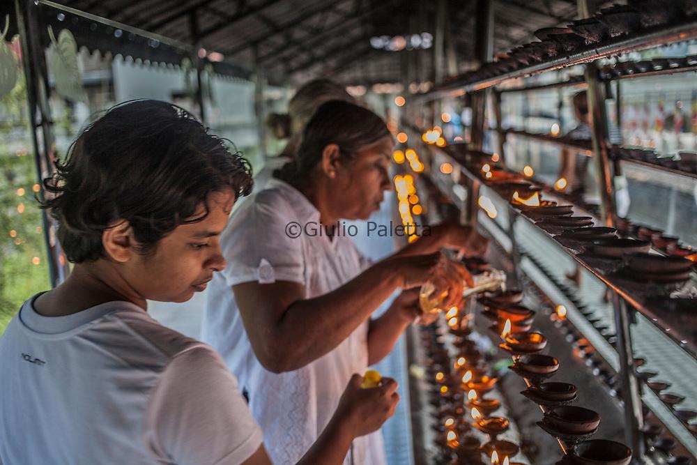 Sri Dalada Maligawa, the most important Buddhist temple in Sri Lanka, in the spiritual Buddhist capital of Kandy