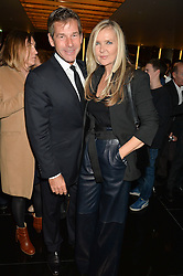 AMANDA WAKELEY and HUGH MORRISON at a party to celebrate Stuart Semple as artist in residence at The Bulgari Hotel held at Il Bar, Bulgari Hotel, 171 Knightsbridge, London on 14th October 2015.