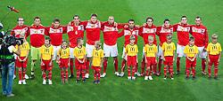 11.08.2010, Wörthersee Stadion, Klagenfurt, AUT, Testspiel, Oesterreich (AUT) vs Schweiz (SUI), im Bild das ÖFB Team . EXPA Pictures © 2010, PhotoCredit: EXPA/ J. Groder / SPORTIDA PHOTO AGENCY