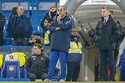 Chelsea Manager Mourizio Sarri during the EFL Cup 4th round match between Chelsea and Derby County at Stamford Bridge, London, England on 31 October 2018.