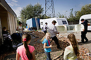 UNITED KINGDOM, Basildon: Irish Travellers move their belongings as eviction looms on the traveller settlement at Dale Farm near Basildon, Essex, south east England, on September 16, 2011. © Christian Minelli.