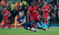 Football - 2016 / 2017 Premier League - Liverpool vs. Manchester United<br /> <br />  Liverpool's Sadio Mane and Manchester United's Daley Blind during the match at Anfield.<br /> <br /> COLORSPORT