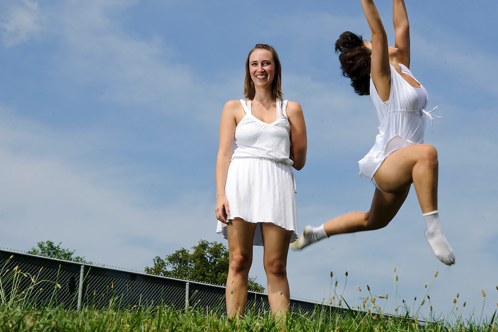 "(Photo by Matt Roth).Sunday, June 19, 2011..Adriana Saldaña, Melissa Talleda..Photo shoot for The Collective's ""aLIVE"" show held on the Bryn Mawr School campus Sunday, June 19, 2011.."