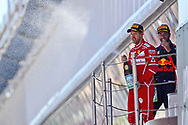 Sebastian Vettel of Scuderia Ferrari takes second place in the Spanish Formula One Grand Prix at Circuit de Catalunya, Barcelona<br /> Picture by EXPA Pictures/Focus Images Ltd 07814482222<br /> 14/05/2017<br /> *** UK &amp; IRELAND ONLY ***<br /> <br /> EXPA-EIB-170514-0111.jpg
