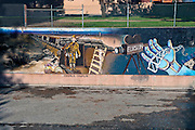 """Charlie Chaplin"" Great Wall Mural, Los Angeles, CA, Tujunga Wash, Sub Watershed, San Fernando Valley,"