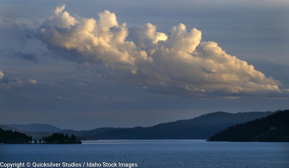 Idaho, Coeur dAlene, South Channel and Clouds