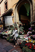 Bologna, flowers at local shop