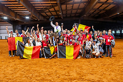 Fonck Bernard, BEL, What A Wave<br /> With all the Belgian team<br /> World Equestrian Games - Tryon 2018<br /> © Hippo Foto - Dirk Caremans<br /> 15/09/2018