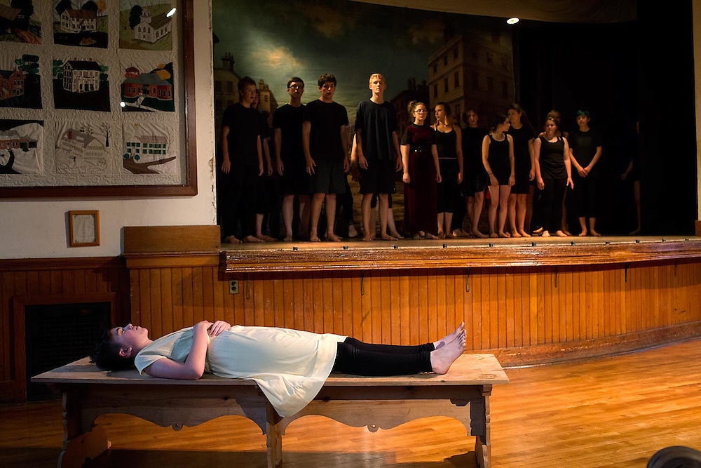 "Performance of ""Romeo and Juliet"" by the Chelsea Funnery in Chelsea, Vt., on July 24, 2015. (Photo by Geoff Hansen)"