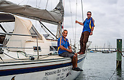 ALTW - WEST - 15/3 - 42822  Skipper and crew of Hobsons Bay Yacht Club are planning their 125th anniversary events. They are also in a two handed yacht race between Melbourne and Osaka (Japan). Skipper Robert Bradley and crew Joey Gough. Photo By Craig Sillitoe This photograph can be used for non commercial uses with attribution. Credit: Craig Sillitoe Photography / http://www.csillitoe.com<br />