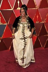Tiffany Haddish walking on the red carpet during the 90th Academy Awards ceremony, presented by the Academy of Motion Picture Arts and Sciences, held at the Dolby Theatre in Hollywood, California on March 4, 2018. (Photo by Sthanlee Mirador/Sipa USA)