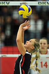 09.10.2010, Halle Berg Fidel, Muenster, GER, Vorbereitung Volleyball WM Frauen 2010, Laenderspiel Deutschland ( GER ) vs. Tuerkei ( TUR ), im Bild Kathleen Weiss (#2 GER). EXPA Pictures © 2010, PhotoCredit: EXPA/ nph/   Conny Kurth+++++ ATTENTION - OUT OF GER +++++