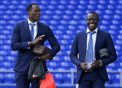 LIVERPOOL, ENGLAND - Saturday, March 12, 2016: Everton's Romelu Lukaku and Oumar Niasse arrive at Goodison Park before the FA Cup Quarter-Final match against Chelsea. (Pic by David Rawcliffe/Propaganda)