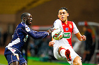 Lucas Ocampos / Sabaly Youssouf  - 21.01.2015 - Monaco / Evian Thonon   - Coupe de France 2014/2015<br /> Photo : Sebastien Nogier / Icon Sport