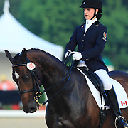 Noemie Bergeron and Vavite Fortuna at the 2010 North American Young Rider Championships in Lexington, Kentucky.