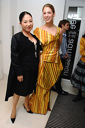 Left to right, the DOWAGER VISCOUNTESS ROTHERMERE and LADY GABRIELLA WINDSOR at a party to celebrate the publication of Vivienne Westwood's Opus held at The Serpentine Gallery, Kensington Gardens, London W2 on 12th February 2008.<br />