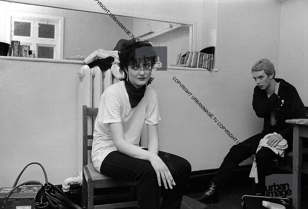 Siouxsie Sioux backstage after a difficult show.