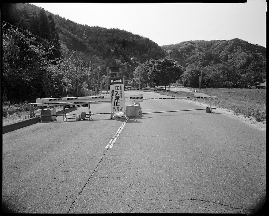 Edge of Exclusion zone  Left unguarded the  edge of the  20km  exclusion zone on rt 114  in Kurabeshi just outside of Namie, Fukushima