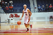 """Ole Miss' Diara Moore (10) vs. Lamar in women's college basketball at the C.M. """"Tad"""" Smith Coliseum in Oxford, Miss. on Monday, November 19, 2012. Lamar won 85-71."""