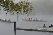 Brighton, MA 050613  Community Rowing Inc. rowers, scullers, and crew take to the Charles River under shroud of thick fog on May 6, 2013. (photos by Essdras M Suarez/ EMS Photography©)