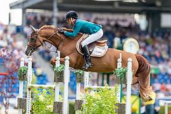 DINIZ Luciana (POR), Chicca<br /> Aachen - CHIO 2018<br /> Sparkassen-Youngster-Cup<br /> 17. Juli 2018<br /> © www.sportfotos-lafrentz.de/Stefan Lafrentz