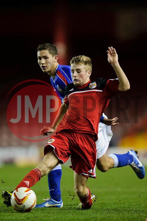Bristol City U18s Joe Morrell in action during the second half of the match - Photo mandatory by-line: Rogan Thomson/JMP - Tel: Mobile: 07966 386802 - 04/12/2012 - SPORT - FOOTBALL - Ashton Gate Stadium - Bristol. Bristol City U18 v Ipswich Town U18 - FA Youth Cup Third Round Proper.