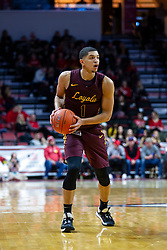 NORMAL, IL - January 19: Lucas Williamson during a college basketball game between the ISU Redbirds and the Loyola University Chicago Ramblers on January 19 2020 at Redbird Arena in Normal, IL. (Photo by Alan Look)