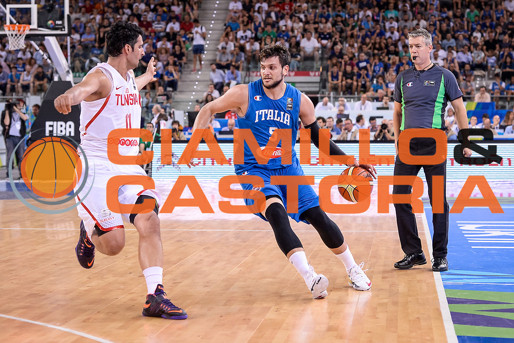 DESCRIZIONE: Torino FIBA Olympic Qualifying Tournament Italia - Tunisia<br /> GIOCATORE: Alessandro Gentile<br /> CATEGORIA: Nazionale Italiana Italia Maschile Senior<br /> GARA: FIBA Olympic Qualifying Tournament Italia - Tunisia<br /> DATA: 04/07/2016<br /> AUTORE: Agenzia Ciamillo-Castoria/ M.Ozbot