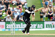 Tom Latham of the Black Caps during the ANZ One Day International match between the Black Caps and Bangladesh, played at the University Oval, Dunedin, New Zealand, on February 20, 2019. Copyright Image: Joe Allison / www.Photosport.nz