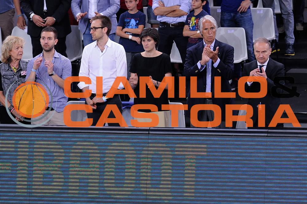 DESCRIZIONE: Torino FIBA Olympic Qualifying Tournament Italia - Croazia<br /> GIOCATORE: Giovanni Malag&ograve; Gianni Petrucci<br /> CATEGORIA: Nazionale Italiana Italia Maschile Senior<br /> GARA: FIBA Olympic Qualifying Tournament Italia - Croazia<br /> DATA: 05/07/2016<br /> AUTORE: Agenzia Ciamillo-Castoria