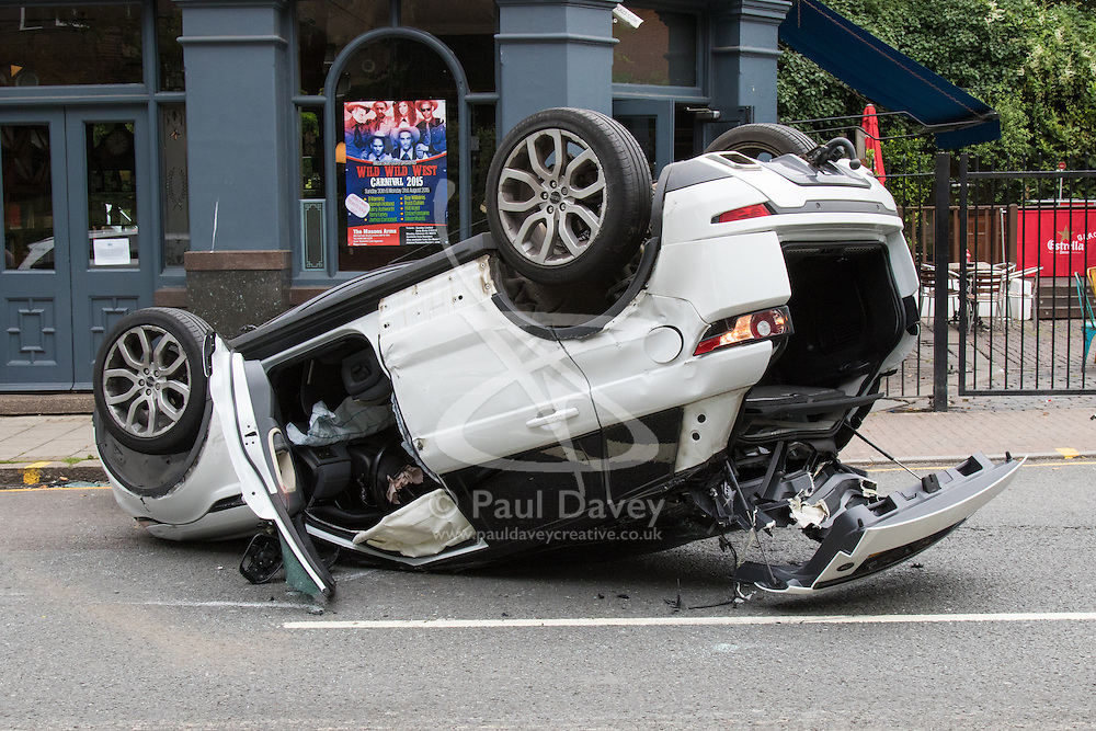Range Rover overturns in dramatic Harrow Road accident | Paul Davey