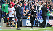 Bolton Wanderers First Team Manager Neil Lennon celebrates the equaliser during the Sky Bet Championship match between Bolton Wanderers and Brighton and Hove Albion at the Macron Stadium, Bolton, England on 26 September 2015.