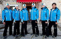 Official photo of  Slovenia Nordic combined Ski team for European Youth Olympic Festival (EYOF) in Liberec (CZE) at official presentation, on February  9, 2011 at Bled Castle, Slovenia. (Photo By Vid Ponikvar / Sportida.com)