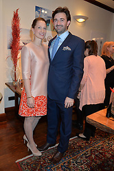 FORBES & KATE MAVROS at a pre christmas party & shopping evening at Patrick Mavros, 104-106 Fulham Road, London on 26th November 2014.