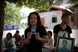 Mrs. Nuuchit Kammgong, widow of Pan Kammgong, a 44 year old cobbler, who used to work in the streets of Bangkok. He was shot at Rachaprarop intersec- tion in Bangkok during the crackdown on May 19th. Mrs. Nuuchit works as a housemaid in a Bangkok 3-star hotel and has to leave her kids behind in the village. Yasothoan province / Ubon Ratchathani. For over two months, Thailand's capital was shaken by fierce and deadly clashes between protesters and security forces. The standoff has taken the lives of at least 89 people and left way more than 1,800 people injured so far.