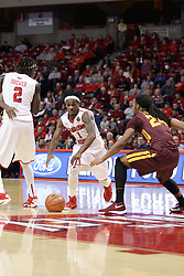 06 January 2016: Montel James(24) defended ball handler Paris Lee(1) during the Illinois State Redbirds v Loyola-Chicago Ramblers at Redbird Arena in Normal Illinois (Photo by Alan Look)