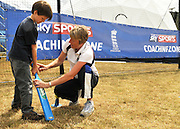 UNITED KINGDOM-LONDON. Cricket coaching at Skyfest 2010. 17/07/2010. STEPHEN SIMPSON...