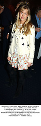 MISS MARY CHARTERIS, grand daughter of Lord Charteris, at a party in London on 5th November 2003.POG 69