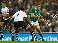 Rugby Union - 2017 Guinness Series (Autumn Internationals) - Ireland vs. Fiji<br /> <br /> Jack Conan (Ireland) in action against Apisalome Ratuniyarawa (Fiji), at the Aviva Stadium.<br /> <br /> COLORSPORT/KEN SUTTON