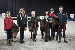 """Lancering """"Ga voor Galop""""<br /> Kelly Pfaff, Martine Jockheere, Caroline Maes en Stefaan Lammens<br /> Flanders Horse Expo - Gent 2012<br /> © Dirk Caremans"""