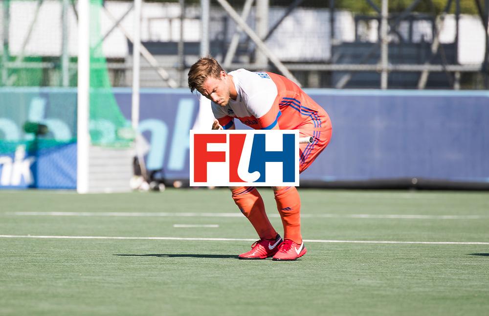 BREDA - Teleurstelling bij Jeroen Hertzberger (Ned)  na Nederland- India (1-1) bij  de Hockey Champions Trophy. India plaatst zich voor de finale.  COPYRIGHT KOEN SUYK