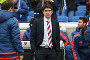 Middlesbrough FC Head Coach Aitor Karanka during the Sky Bet Championship match between Brighton and Hove Albion and Middlesbrough at the American Express Community Stadium, Brighton and Hove, England on 19 December 2015. Photo by Phil Duncan.