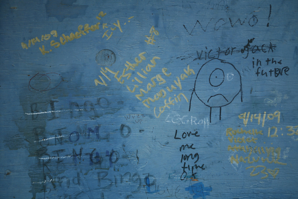 Wall on Noorvik school. 2009