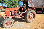 Tractor at Vegas Robaina, San Luis, Pinar del Rio, Cuba.