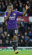 31. Enner Valencia (West Ham) Goal celebration during the The FA Cup match between West Ham United and Everton at the Boleyn Ground, London, England on 13 January 2015. Photo by Matthew Redman.