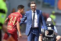 Eusebio Di Francesco, Roma coach, Justin Kluivert.<br /> Roma 16-09-2018 Stadio Olimpico Football Calcio Serie A 2018/2019 AS Roma - Chievo <br /> Foto Antonietta Baldassarre / Insidefoto