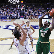 STORRS, CONNECTICUT- NOVEMBER 17: Kalani Brown #21 of the Baylor Bears shoots past Natalie Butler #51 of the UConn Huskies during the UConn Huskies Vs Baylor Bears NCAA Women's Basketball game at Gampel Pavilion, on November 17th, 2016 in Storrs, Connecticut. (Photo by Tim Clayton/Corbis via Getty Images)
